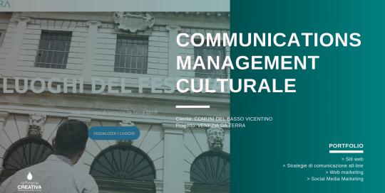 communications management culturale - venezia da terra 2019
