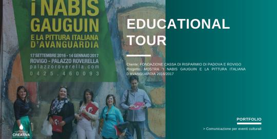organizzazione educational tour - mostra nabis, gaugin e la pittura italiana d'avanguardia 2016:2017