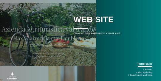 sito web azienda agrituristica valgrande