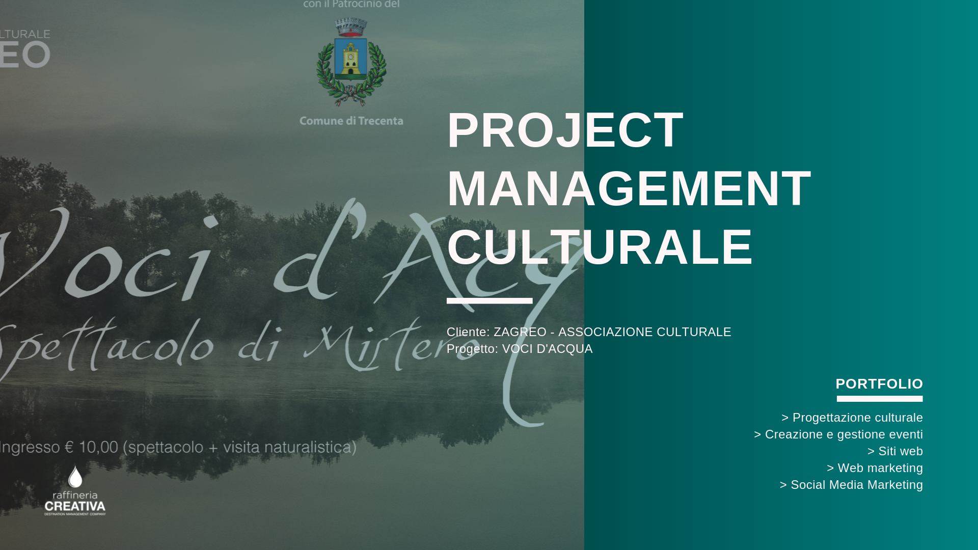 voci d'acqua - project management culturale